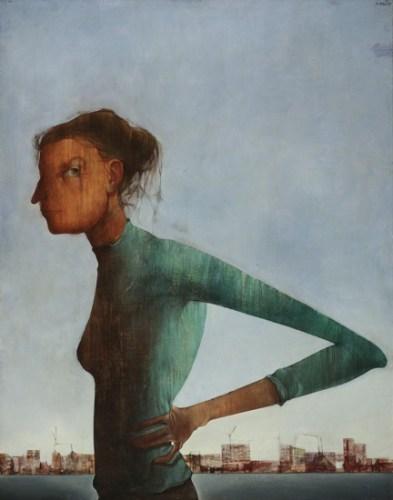 Mikuláš Medek: Žena a město (Portrét 53)